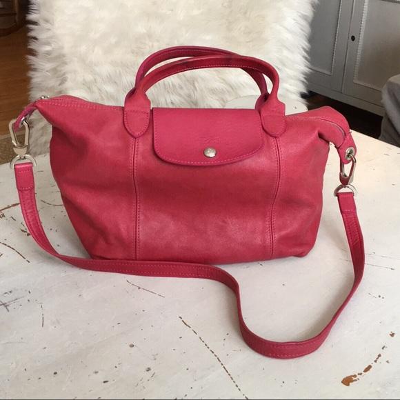 Longchamp Le Pliage Cuir top-handle L leather bag